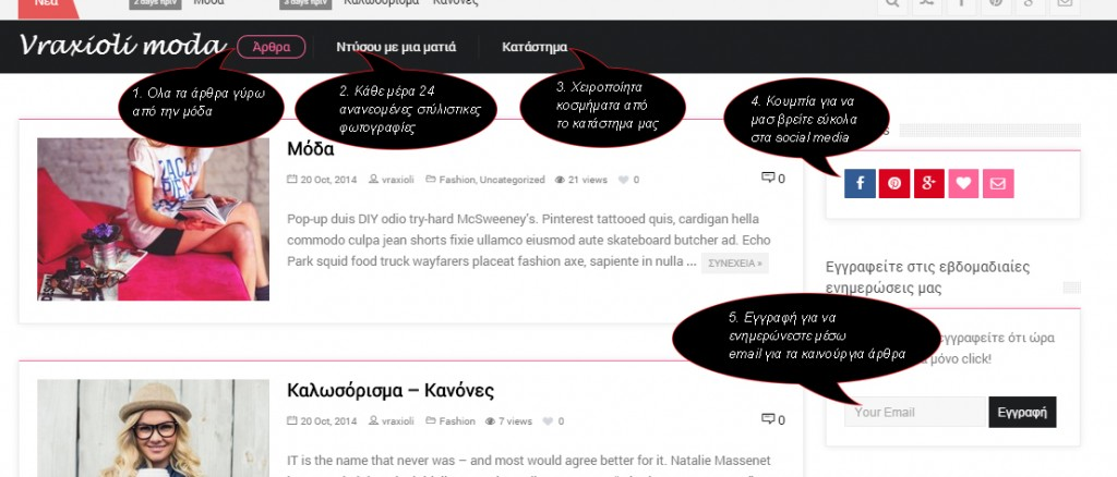 οδηγος του blog vraxioli