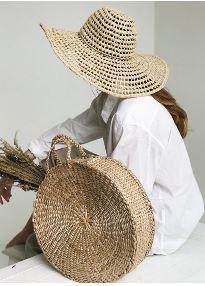 ψαθινη τσαντα ψαθινο καπελο