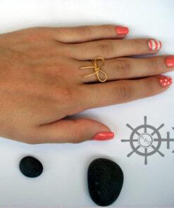 Δαχτυλίδι φιόγκος με συρμα