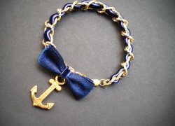 Bracelet with golden chain