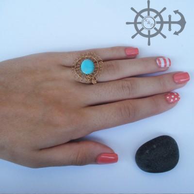 Δαχτυλίδι τυρκουάζ