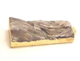 Natural quartz pendant rectangular