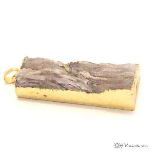 αναγλυφος χαλαζίας ορθογώνιος χρυσό