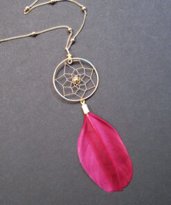 Dreamcatcher necklaces with feathers