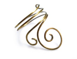 ring spiral brass