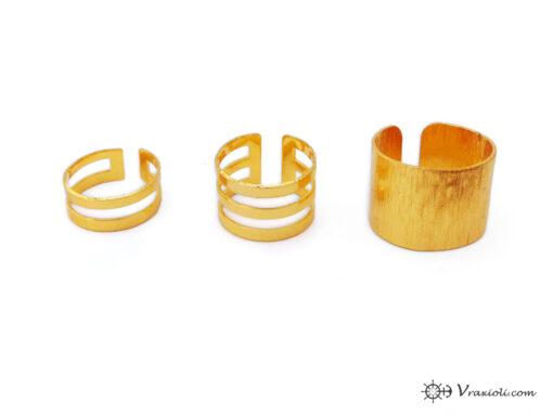 Τριπλό δαχτυλίδι χρυσό