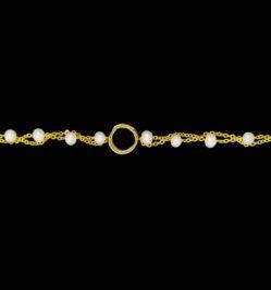 βραχιολι με περλες και αλυσιδες χρυσες
