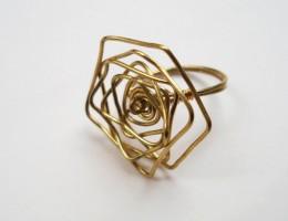 πολύγωνο δαχτυλίδι από ορείχαλκο