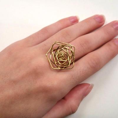 δαχτυλίδι επιχρυσωμένο 24 καράτια