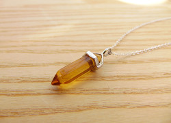 yellow quartz pendants