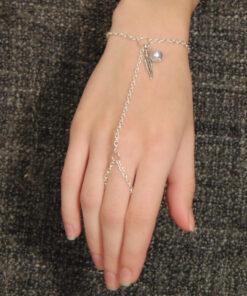 βραχιολι με δαχτυλιδι