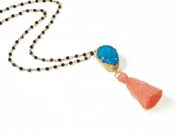 Rosary necklace with tassel