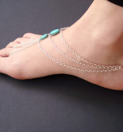 Turquoise Anklet Bracelet Foot Jewelry