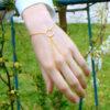βραχιολι δαχτυλιδι με χρυση αλυσιδα