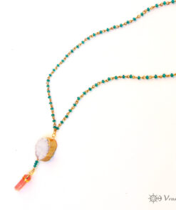 Rosary necklaces with semi precious stones