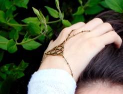 Boho ring bracelet