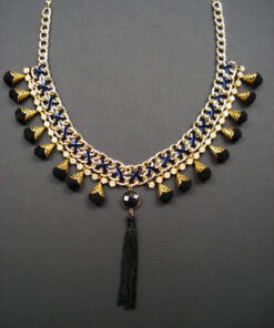 Statement necklace with chains