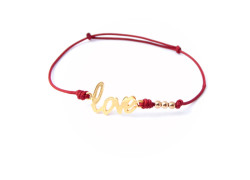 bracelet love macrame