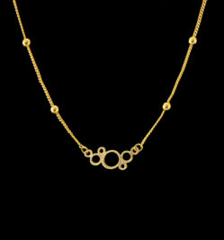 Necklace with circles composition
