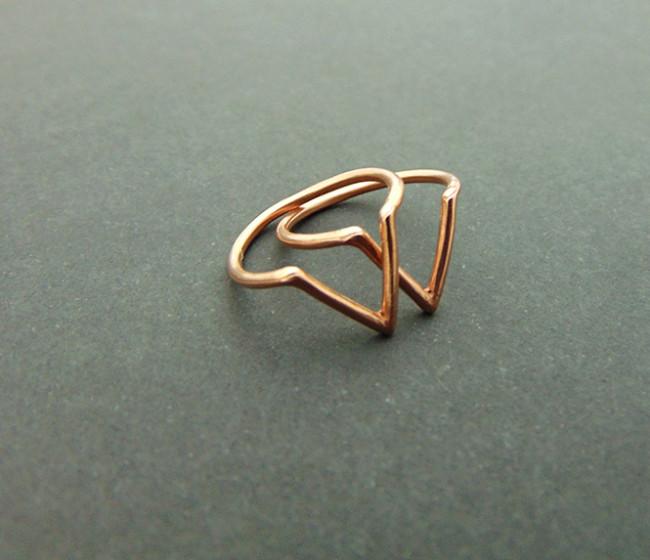 Ροζ χρυσό δαχτυλίδι