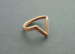 Fashion τριγωνικό δαχτυλίδι