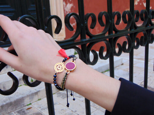 bracelets with crystals layers