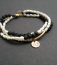 Bracelets with semiprecious stones - LAVA