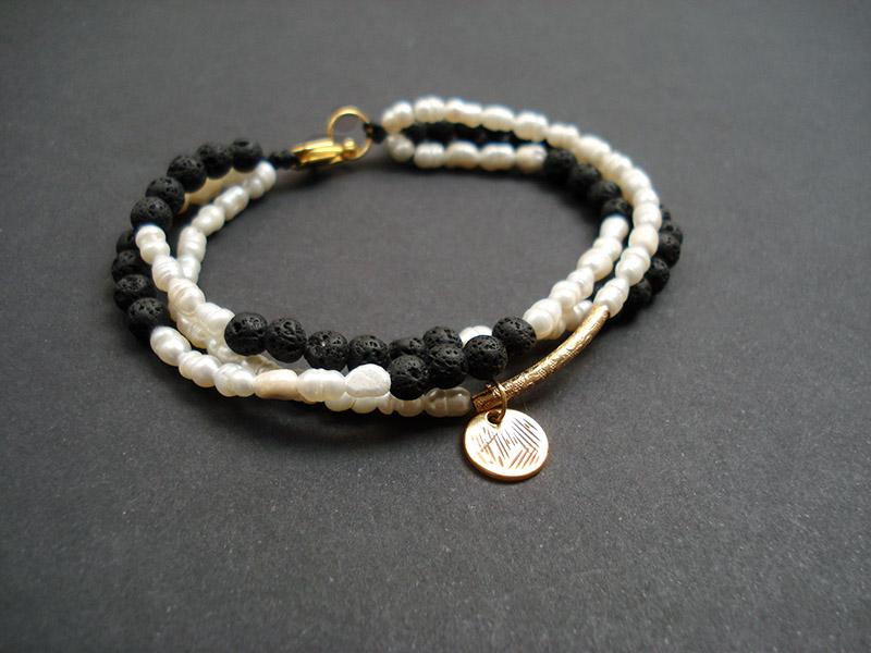 Βραχιολια με ημιπολυτιμες πετρες ( Λαβα και Περλες ) b0043c23955