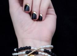 Bracelet with black lava