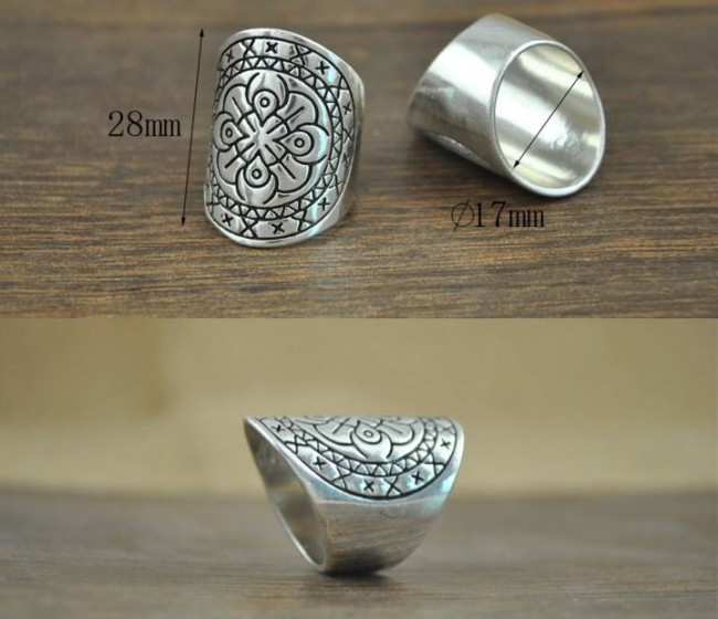 boho rings silver