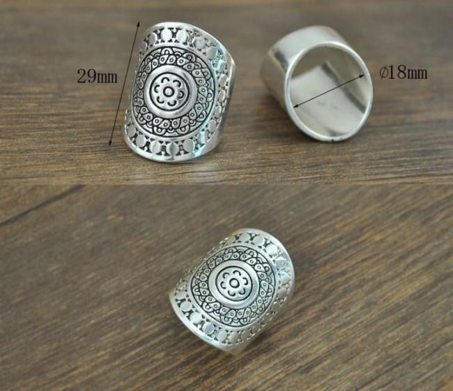 boho ring silver