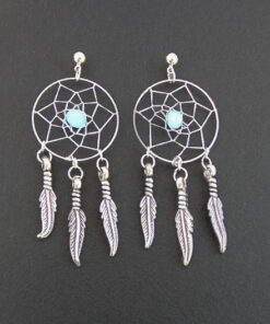 handmade dreamcatcher earrings