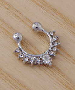 fake nose rings with rhinestones