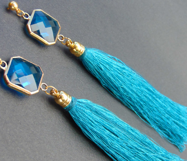 σκουλαρικια με μπλε πετρα