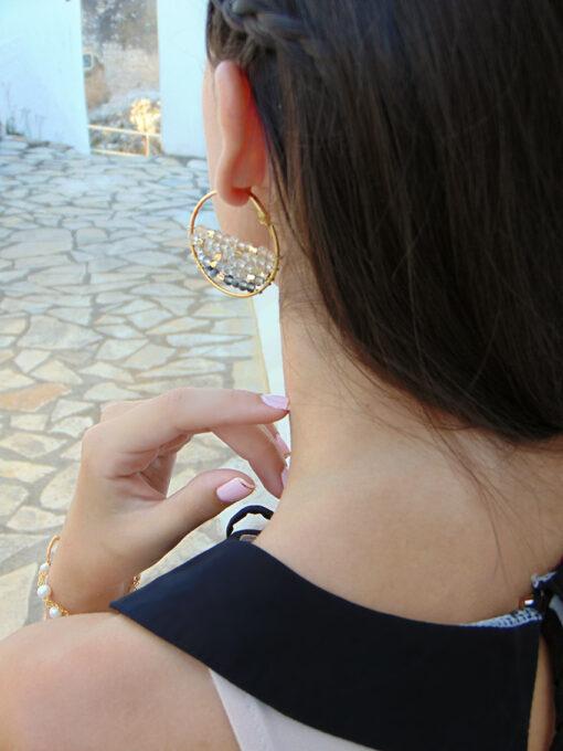 σκουλαρικια κρικοι με κλιπ
