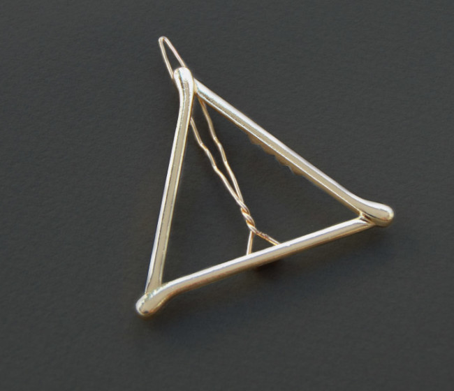 Hair jewelry triangle