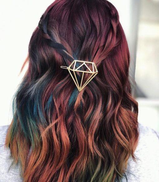 hair clips σε σχημα διαμαντι