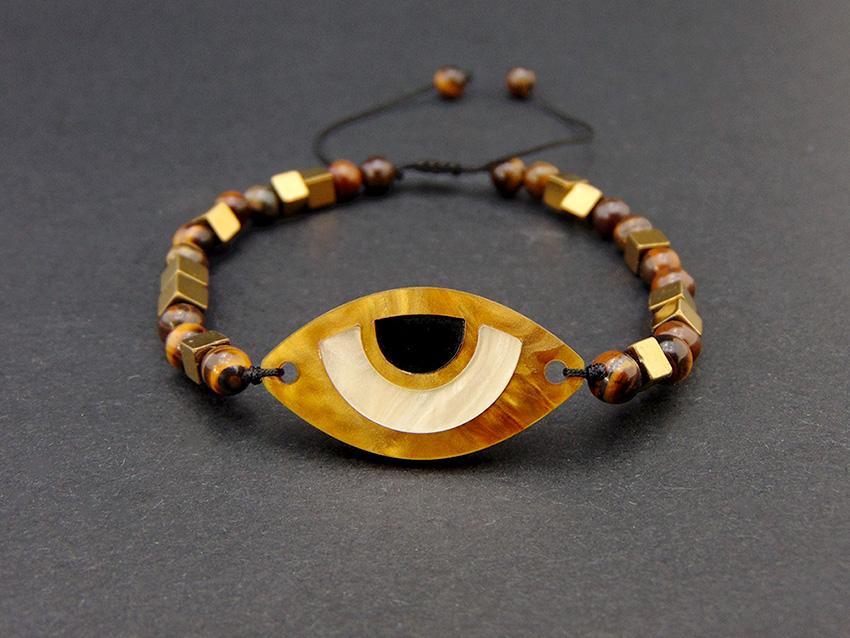 Plexiglass evil eye bracelet