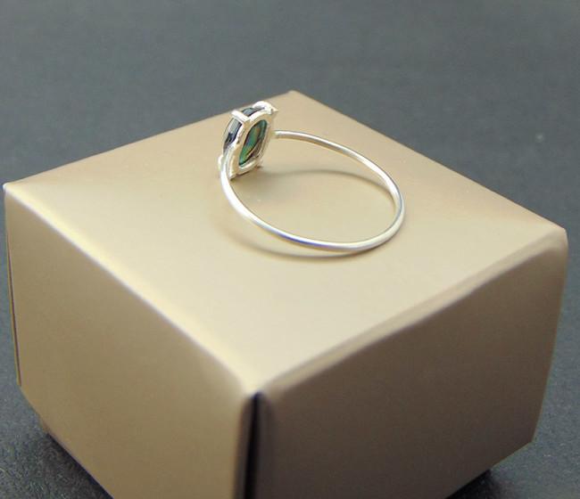 ασιμενιο δαχτυλιδι καρφοτη μπλε πετρα