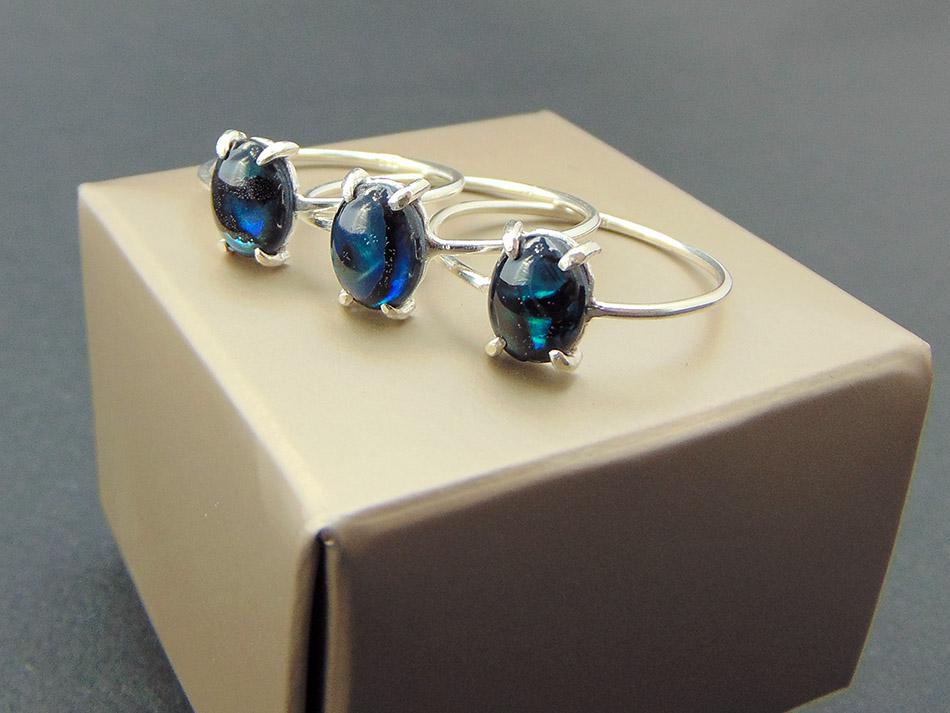 Ασημένιο δαχτυλίδι με abalone - Γνησιότητα .925 c02ed7c7810