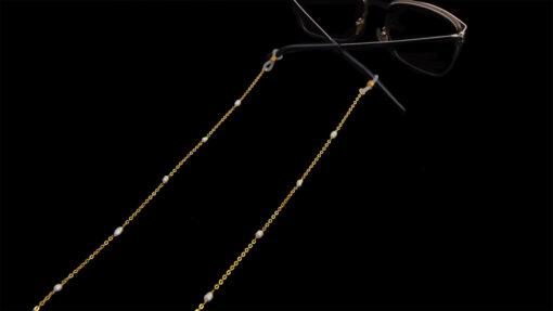 αλυσιδα γυαλιων ροζαριο με περλες