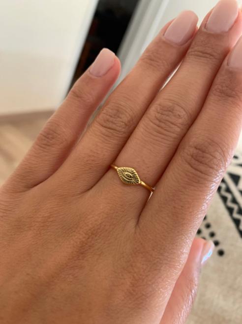 χρυσο δαχτυλιδι με ματι