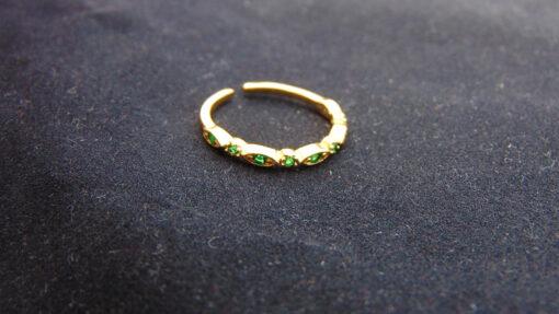 δαχτυλιδι με πρασινα στρας
