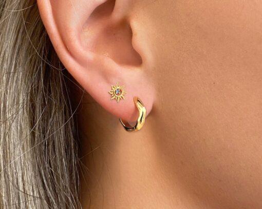 καλοκαιρινα σκουλαρικια χρυσα