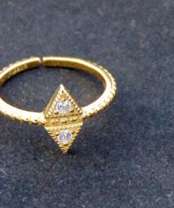 925 δαχτυλιδι επιχρυσωμενο
