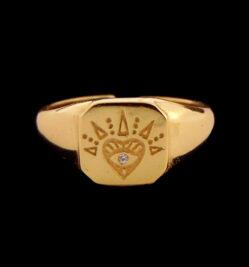 Χρυσό δαχτυλίδι σεβαλιέ