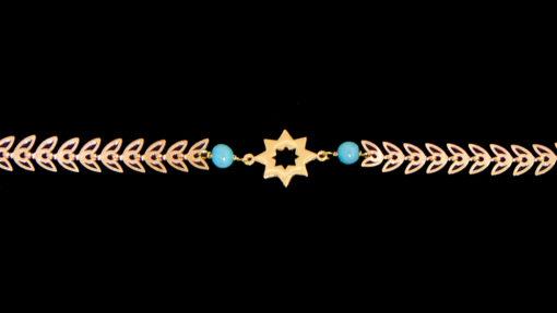 βραχιολι γυναικειο με αστερι σε χρωμα χρυσο
