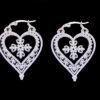 ατσαλινα σκουλαρικια καρδιες