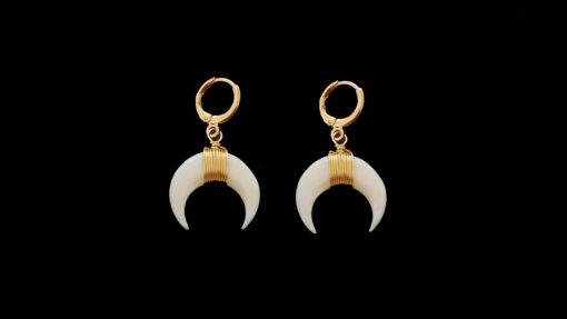σκουλαρικια χρυσοι κρικοι με κλιπ