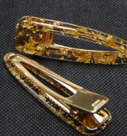 πιαστρακια μαλλιων χρυσα